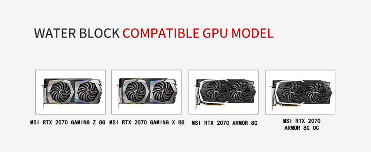 Barrow BS-MSGZ2070-PA, LRC 2 0 Full Cover Graphics Card Water Cooling  Blocks, For MSI RTX2070 GAMING Z 8G/X 8G, Armor 8G