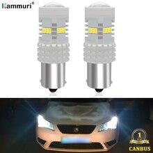 Белый 6000K Canbus без ошибок 1156 P21W BA15S S25 14SMD светодиодный светильник для SEAT LEON 3 MK3 Светодиодный дневной светильник дневные ходовые огни DRL