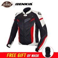 BENKIA мотоциклетная куртка мужская текстильная мотоциклетная гоночная байкерская куртка Броня весна лето дышащая одежда защитное снаряжени