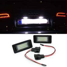 Car LED Number License Plate Light For Audi A4 S4 A5 S5 TT RS for Volkswagen VW PASSAT R36  Exterior Accessories pair error free led license plate lights lamps fit for audi a4 b8 a5 s5 tt s4 quattro