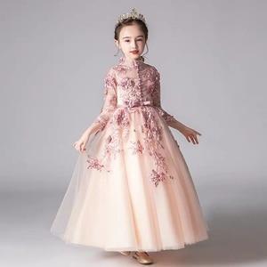 Image 4 - אביב יוקרה חדש אפליקציות עבודת יד פרחי בנות ילדי חתונה יום הולדת המפלגה טול שמלת ילד בני נוער מארח טוטו שמלת בגדים