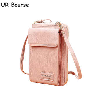 UR BOURSE Women Cell Phone Bag Ladies Large Capacity Mobile Wallet Female Zipper Shoulder Crossbody Bag Phone Bag  Coin Purse - DISCOUNT ITEM  0% OFF All Category