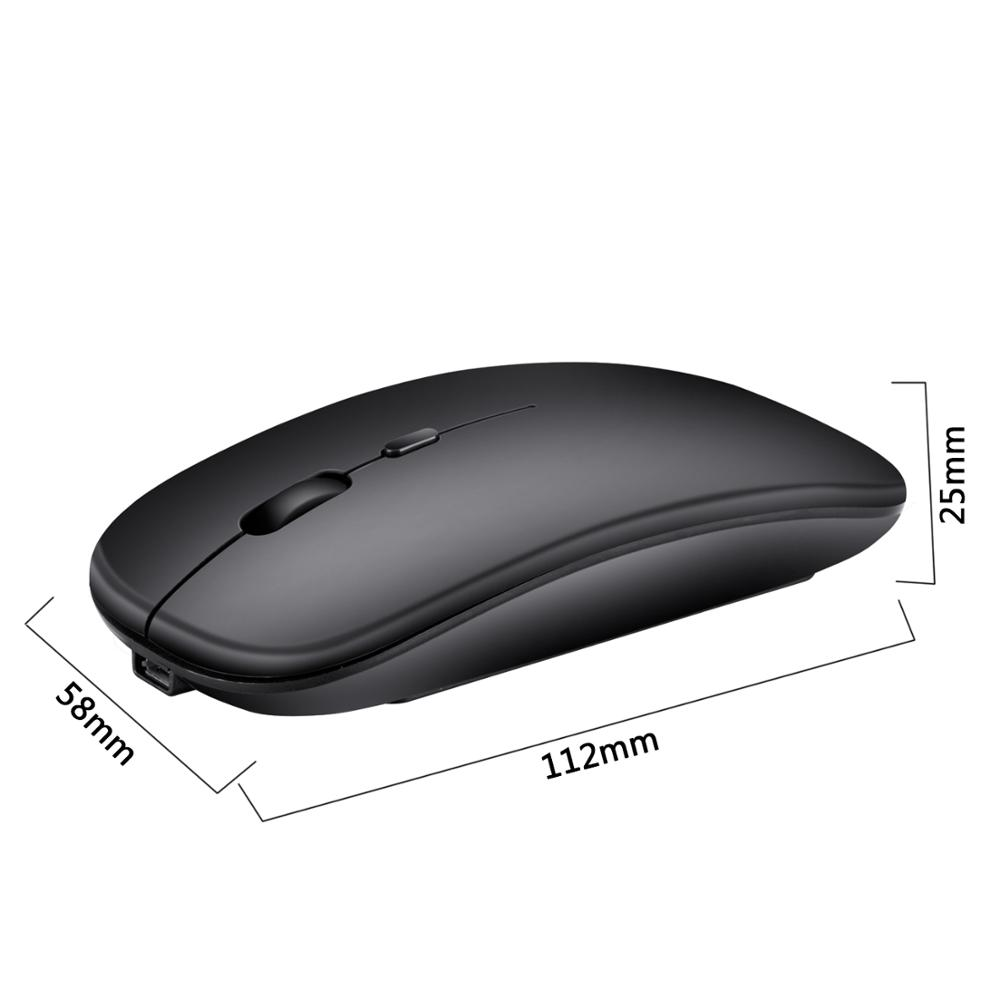 M80 rechargeable wireless mouse mute 2 4G office mouse 500 mAh built in battery 6 color notebook desktop application in Mice from Computer Office