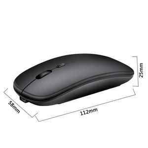Image 2 - M80 souris sans fil rechargeable muet 2.4G souris de bureau 500 mAh batterie intégrée 6 couleurs application de bureau pour ordinateur portable