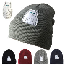 RIPNDIP Fashion Brand Nermal Beanie Winter Men Skullies Cap Beanies Casual Hats Knitted Wool Warm Winter Hat for Women