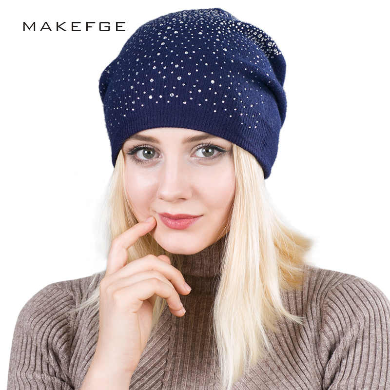 e084b321a7 Detail Feedback Questions about Warm Female Winter Beanie Hats Wool ...