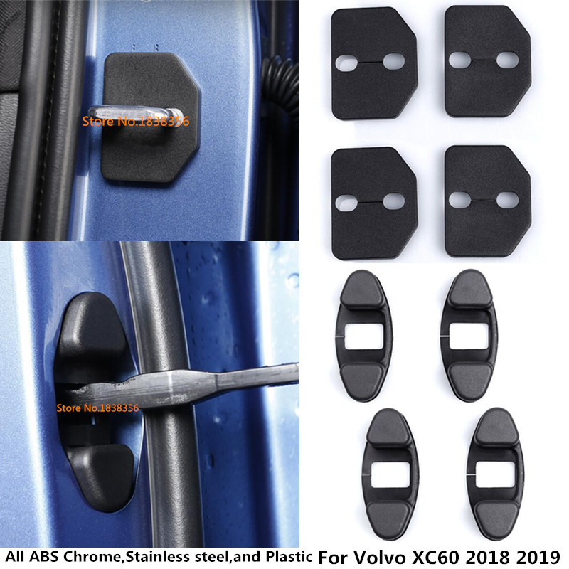 Hot For Volvo XC60 2018 2019 2020 Car Body Interior Plastic Anti Rust Water Proof Dørlås Key Spænde Cover Nøgler tilbehør