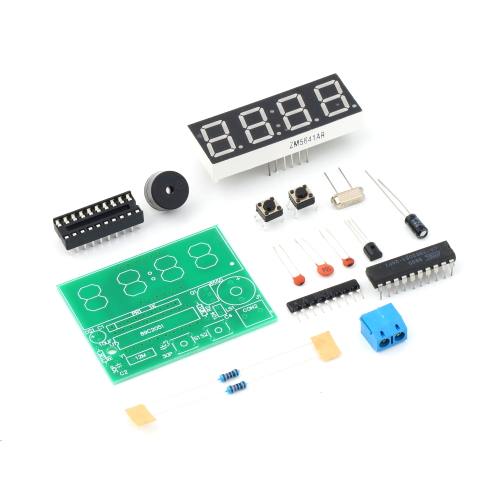 OUTAD 1pc 3V-6V C51 4 Bits Digital Electronic Clock Electronic Production Suite DIY Kits High Quality