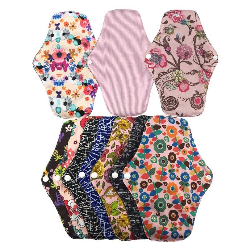 10pcs panty liner reusable menstrual pads cloth pads feminine pad washable sanitary refillable randomly send assorbenti lavabili