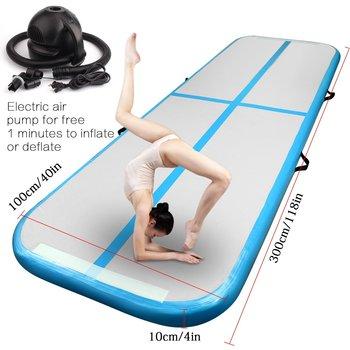 Надувной гимнастический AirTrack Tumbling воздушный трек напольный 5 м батут электрический воздушный насос для домашнего использования/тренировок... >> chinasupermarket Store