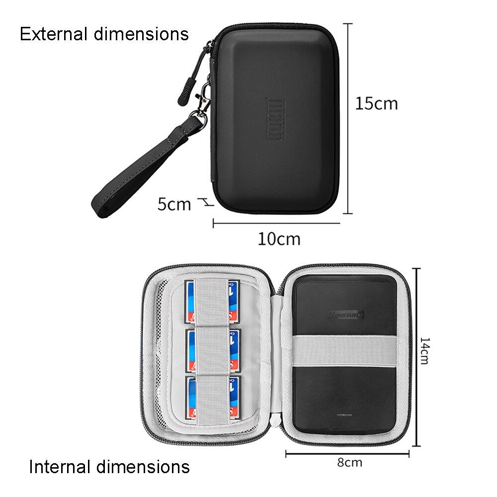 BUBM EVA противоударный чехол для путешествий Чехол Для Seagate резервного копирования плюс 2,5 ''дюйма внешний жесткий диск 1 ТБ 2 ТБ 4 ТБ