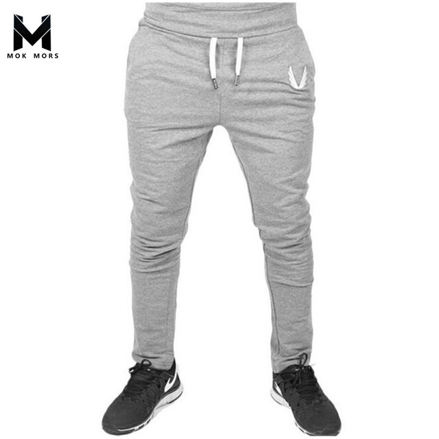 2017 Men Sweatpants Brand New Fall Fashion Wei Pants Embroidered Mens Joggers Jogger Slim Feet