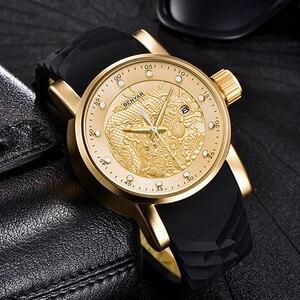 Image 5 - Chinese Dragon Calendar BENYAR Luxury Brand Watches Men Waterproof Silicone Strap Fashion Quartz simple Watch Relogio Masculino