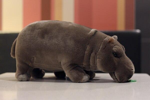 12 hipopotamos eretos realistas brinquedos animais de 03