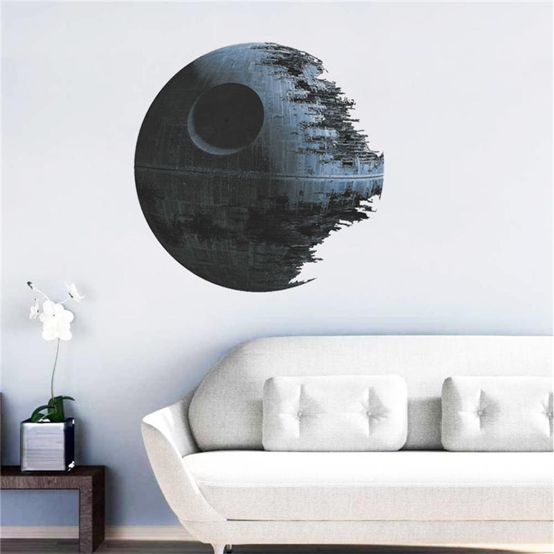 HTB11whnOFXXXXXMXFXXq6xXFXXXR - Death Star Wars Poster Wall Stickers Movie Wall Decals Art for Boys Nursery Kids Room Home Decoration WallPaper Kids Wall Paper