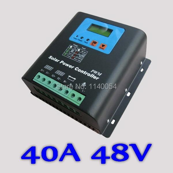 40A 48V Solar Charge Controller, 40A Solar Controller 48V, PV panel Battery Regulator 40A 48V for 2000W Solar System kbs48101x 40a 24 48v mini brushless dc controller