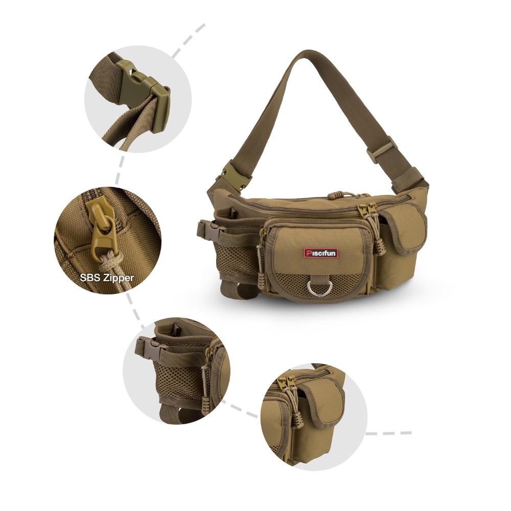 Piscifun Fishing Bag Multifunctional Outdoor Waist Bag Portable Lure Waist Pack Messenger Bag Pole Package Fishing Tackle Bag in Fishing Bags from Sports Entertainment
