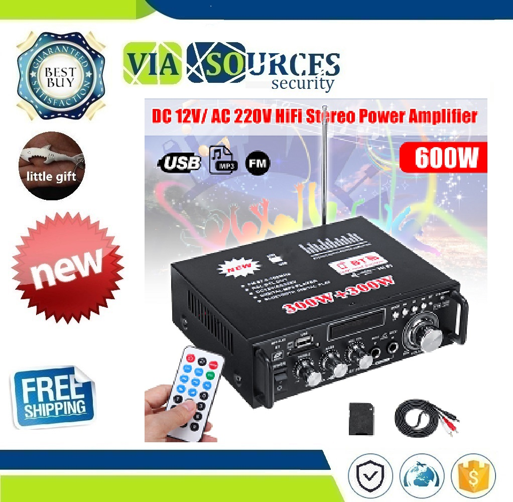 600W 220V Protable Home Amplifier Mini HiFi Stereo Audio Power Amplifier with Digital Bluetooth for Car Auto Home Audio600W 220V Protable Home Amplifier Mini HiFi Stereo Audio Power Amplifier with Digital Bluetooth for Car Auto Home Audio