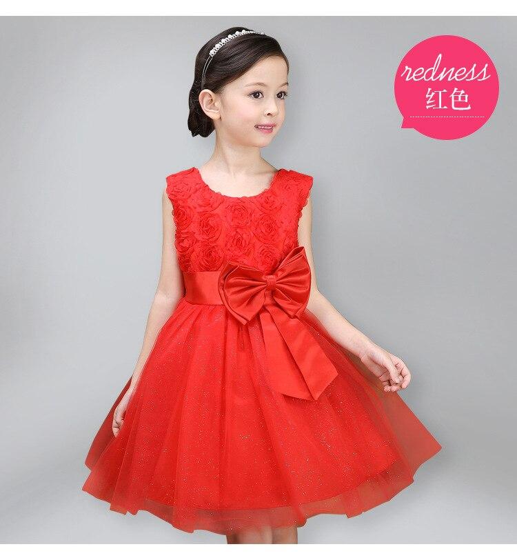Girls Dress Children Clothing Princess Summer Wedding Party Girls - Ubrania dziecięce - Zdjęcie 3