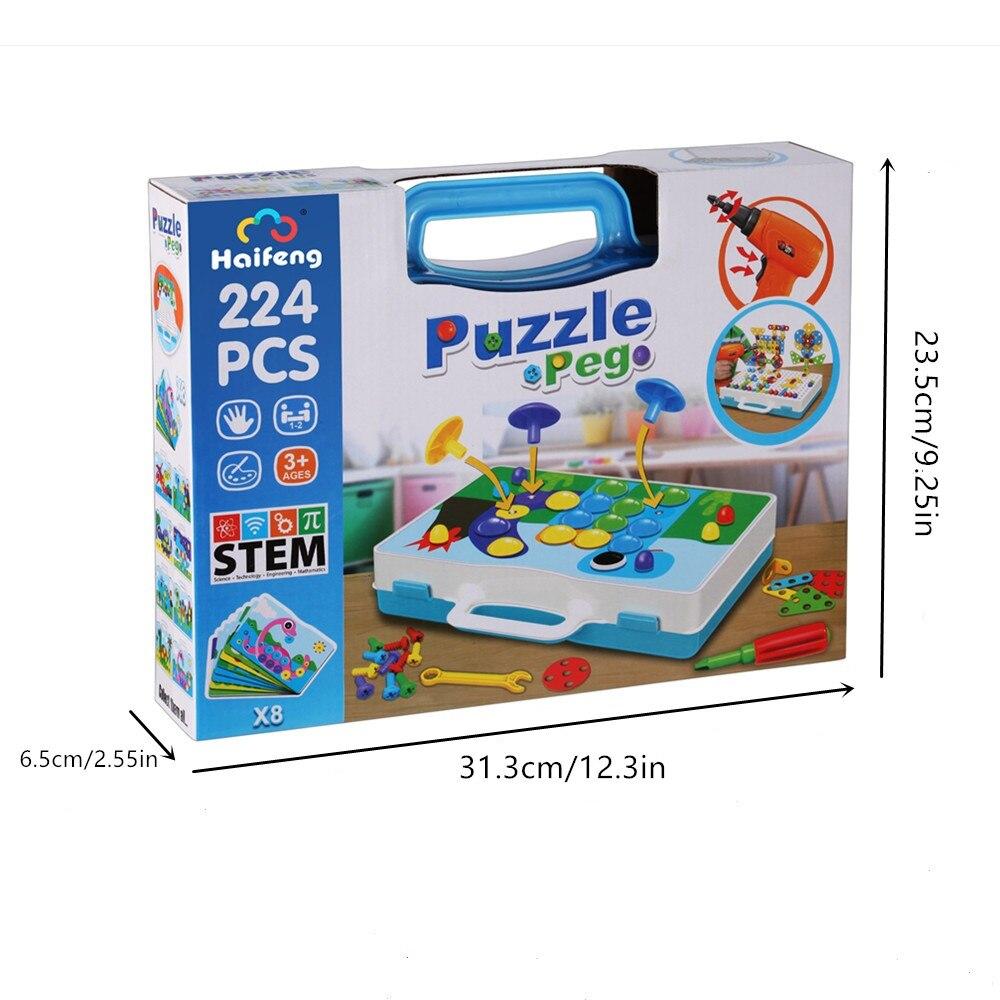 criativo prego kit criancas brinquedos educativos parafuso 05