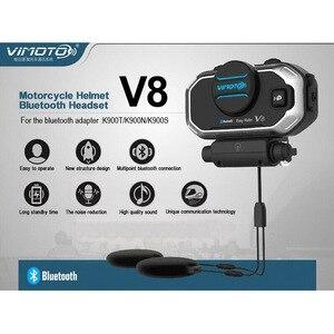 Image 3 - English 850mAh 2PCS Vimoto V8 Helmet Bluetooth Intercom Motorbike Stereo BT Headset Headphones For Mobile Phone GPS 2 Way Radios