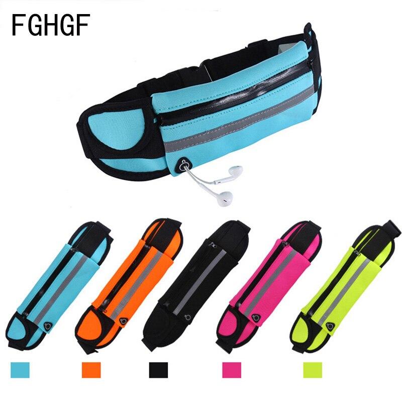 Imperméable à l'eau en cours d'exécution taille sac toile Sport Jogging Portable en plein air support pour téléphone ceinture sac femmes hommes Fitness Sport accessoires