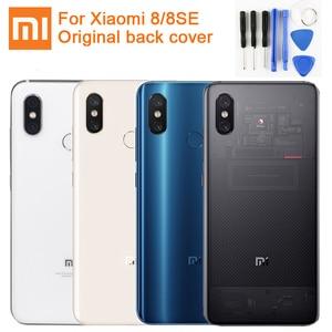 Image 1 - XIAOMI Original Glass Battery Rear Case For Xiaomi 8 MI8 M8 8SE Mi 8 Back Battery Cover Phone Battery Backshell Back Cases