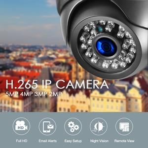 Image 2 - كاميرا IP من الأداة 5 ميجابكسل 2592*1944P سوني IMX335 رؤية ليلية صوت ميكفون قبة 3 ميجابكسل 2MP كاميرا مراقبة أمان PoE عالية الوضوح بالكامل