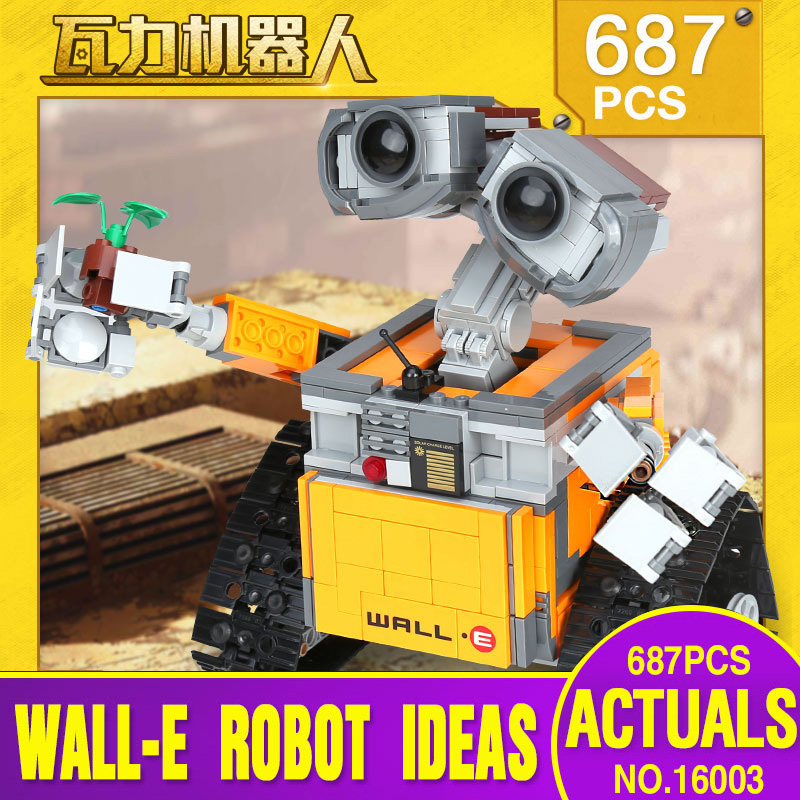 Lepin 16003 Idea Robot WALL E Building Set Kits Toys Educational Bricks Blocks Bringuedos legoing 21303 for Children DIY Gift hot sale 1000g dynamic amazing diy educational toys no mess indoor magic play sand children toys mars space sand