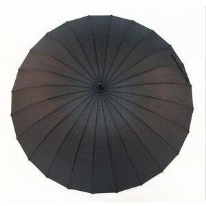 Image 3 - أنيق أسود اليابانية الساموراي النينجا السيف كاتانا مظلة مشمس & Rainny طويل مقبض مظلات شبه التلقائي 8 ، 16 أو 24 الأضلاع