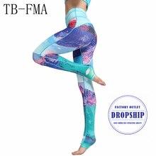 Леггинсы для занятий йогой, спортом брюки yoga Женская спортивная одежда брюки Фитнес yoga сжатия спортивные лосины Спортивная одежда для йоги спортивную одежду