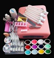 New Pro 36W UV GEL White Lamp & 12 Color UV Gel Nail Art Tools Sets Kits nail gel nails & tools nail polish kit YL066