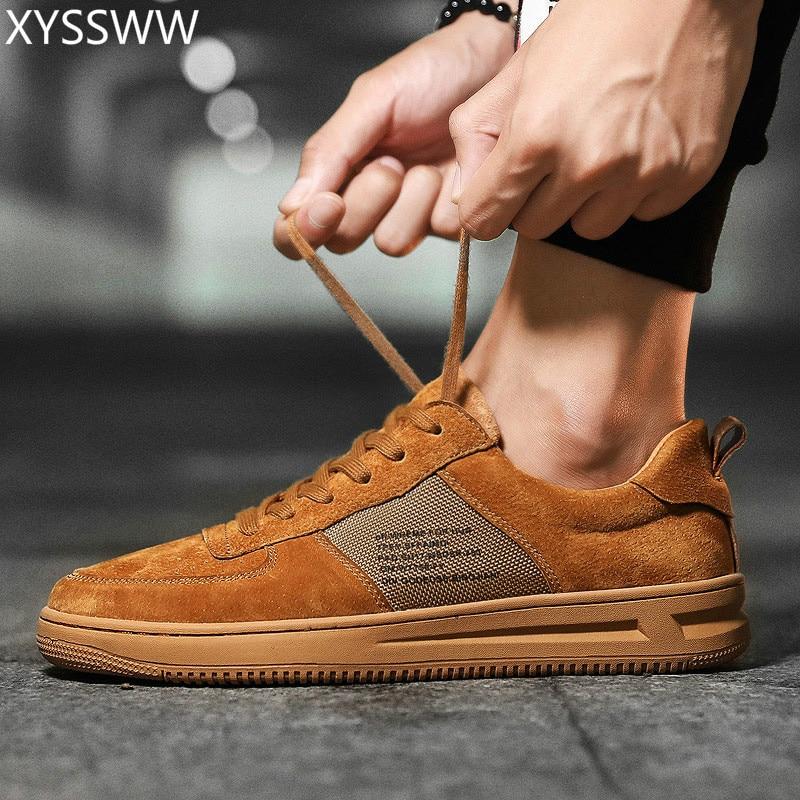 Otoño 2 Lujo Zapatos Informales Cordones Zapatillas Primavera 2018 Para Con Marca Cuero 1 Hombre Hombre 3 Marrones Moda De Auténtico qPwwAtT
