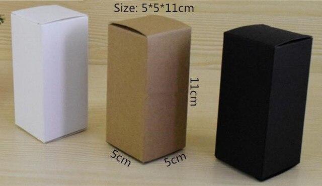50 Pcs Lot 5 5 11 Cm Blanc Noir Kraft Papier Cadeau Boite