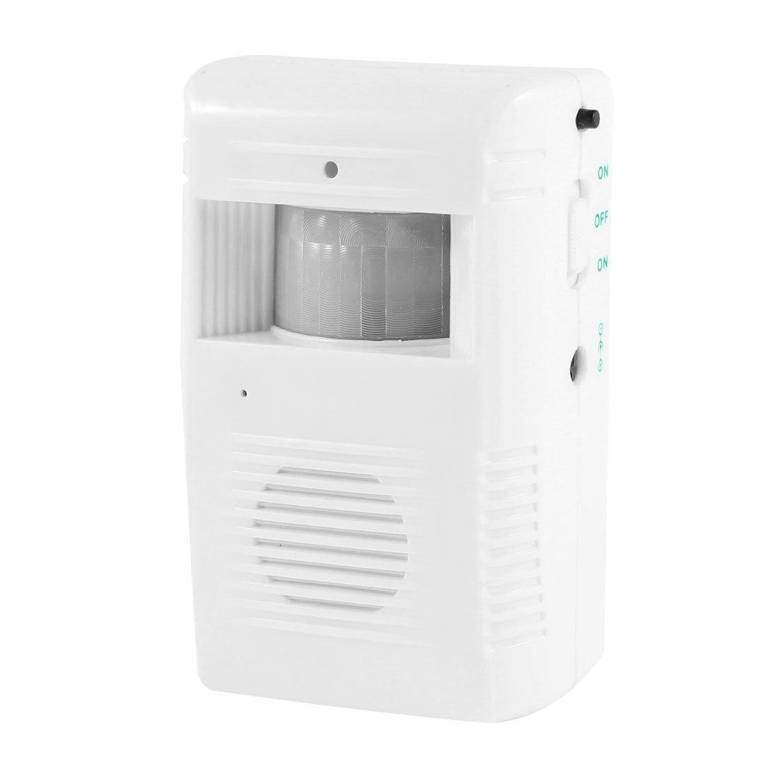 цена на MOOL Music Chime Voice Greeting Warning Infrared Motion Sensor Welcome Doorbell White