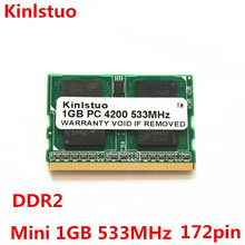 NEW 1G 1GB PC2-4200 DDR2-400/533/667MHZ microDIMM 172pin Laptop Memory FOR Fujitsu Panasonic Laptop ram Free shipping