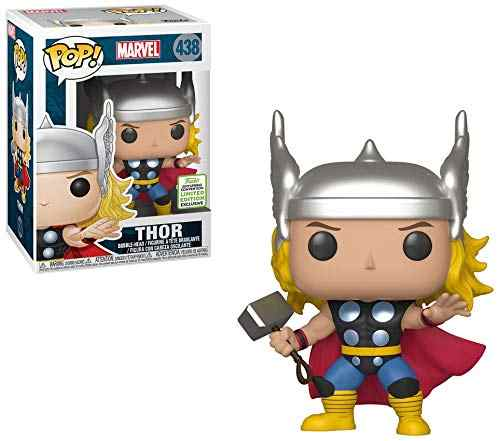 Funko pop Maravilha ECCC Oficial Exclusivo: Thor #438 Vinyl Action Figure Collectible Modelo Toy com Caixa Original