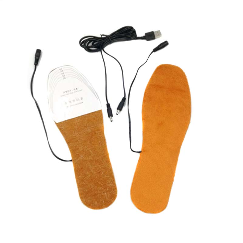 USB Electric Heated Insoles Shoes Boots Foot Feet Warmer Pad Cushion Best Sale-WT