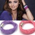 Горячий новый двойной звездной пыли браслет для женщин с кристалл заполнены с магнитным замком Упаковка браслеты браслеты