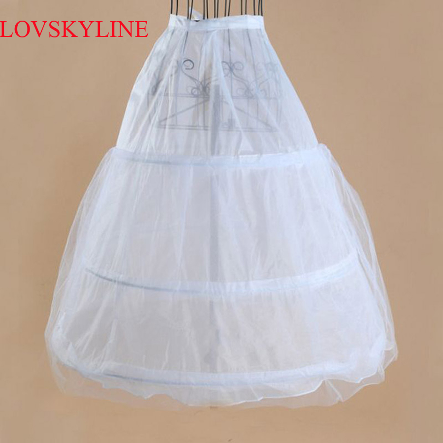 In Stock 3 Hoops Petticoats For Wedding Dress Wedding Accessories Free Shipping Crinoline Cheap Underskirt For Ball Gown