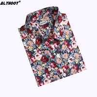 Floral Cotton Blouse Long Sleeve Turn-down Collar Stylish Tops Blusas Coloridas High Quality Blouses Womens Summer Shirts