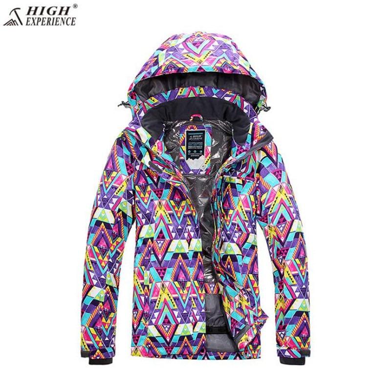 Veste de Snowboard imperméable haute expérience en plein air montagne livraison gratuite manteau de Sport marque combinaison de Ski femmes veste de Ski d'hiver - 5