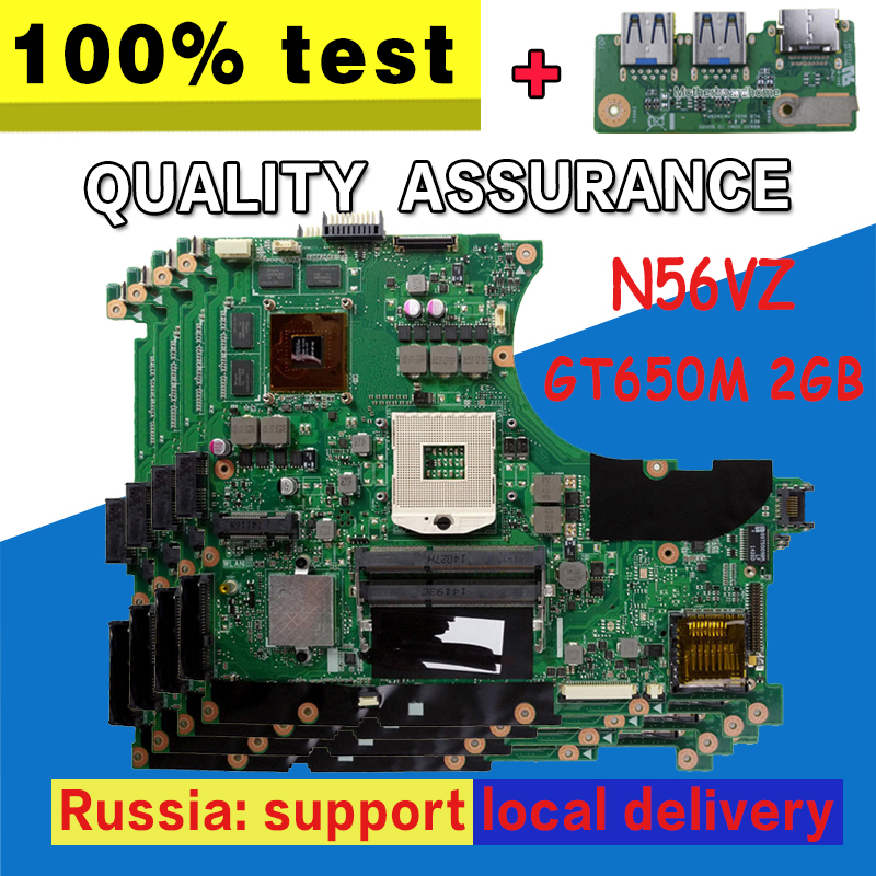 все цены на send board+N56VZ Motherboard GT650 2g For ASUS N56V N56VM N56VV N56VJ N56VB Laptop motherboard N56VZ Mainboard N56VZ Motherboard