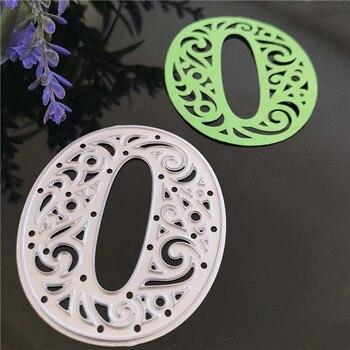 Cyfry arabskie Hollow numery matryce do cięcia metalu szablony do Scrapbooking dekoracyjne tłoczenie garnitur karty papieru do cięcia