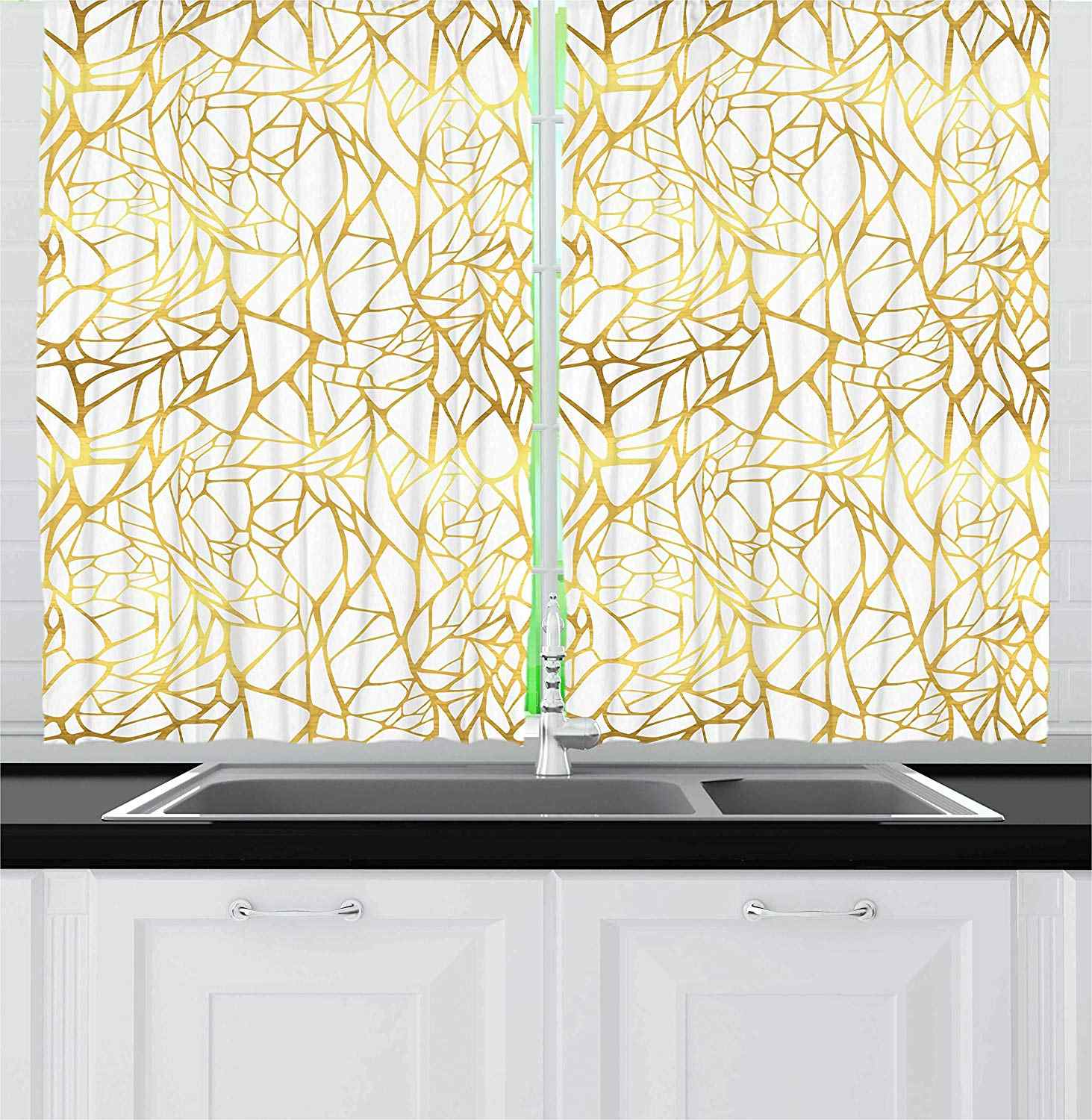Contemporary Kitchen Curtains Abstract Ornament Exotic Animal Pattern Style Feminine Glamor Print Window Decor Panel Set Curtains Aliexpress