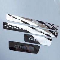 Door Sill Strip for Citroen C4 Aircross Automobile Welcome Pedal Trim Scuff Plates Car Styling Stickers Accessories 4 Pcs