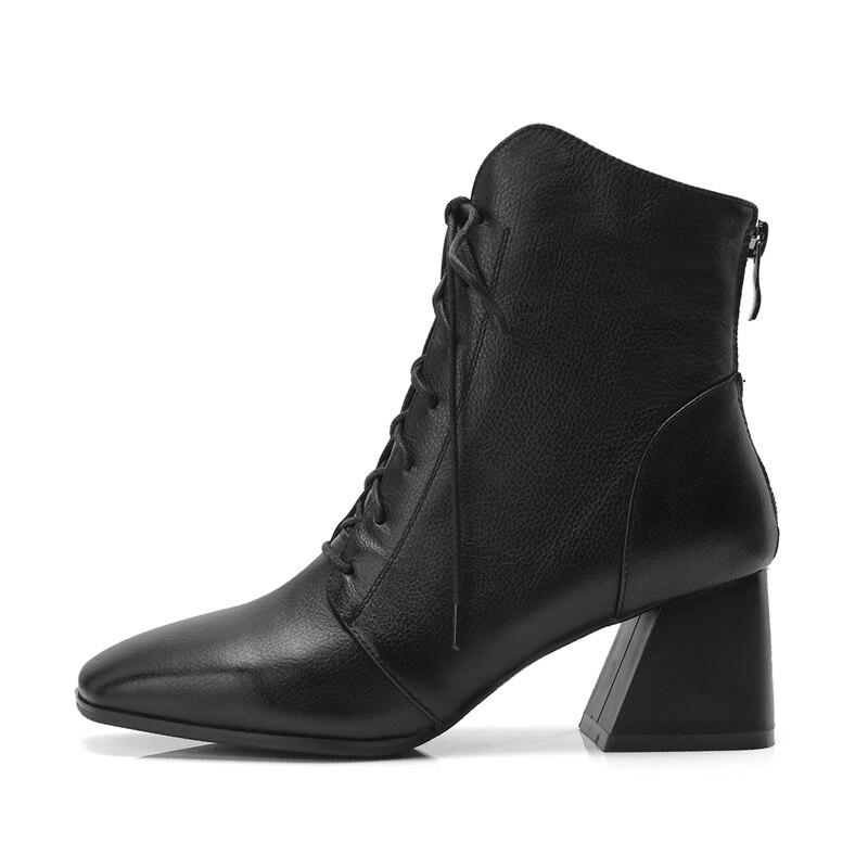 Hauts Carré Talon Talons Black Femmes Bottes brown À Enmayer Chaussures Lacets 2018 Bout Dame Zyl910 dhtCBsQrxo