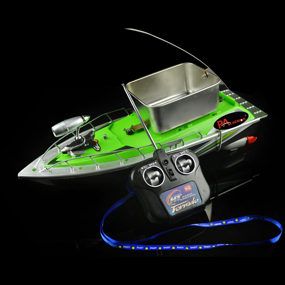 Speedboat Rc Bait Boat Carp Hull for Fishing Bait Mini Speed Boat Remote Control Boat Radio Control Light Toy Finder Model Ship image