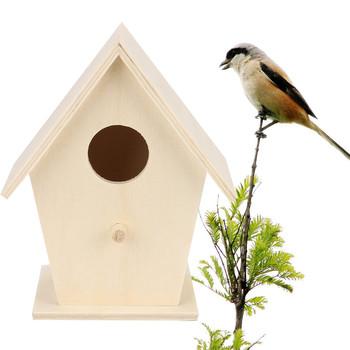WNest Dox gniazdo dom ptak dom ptak dom pudełko na ptaki ptak drewniane pudełko dom i ogród dostaw narzędzi Vogelhaus tanie i dobre opinie ISHOWTIENDA Drewna
