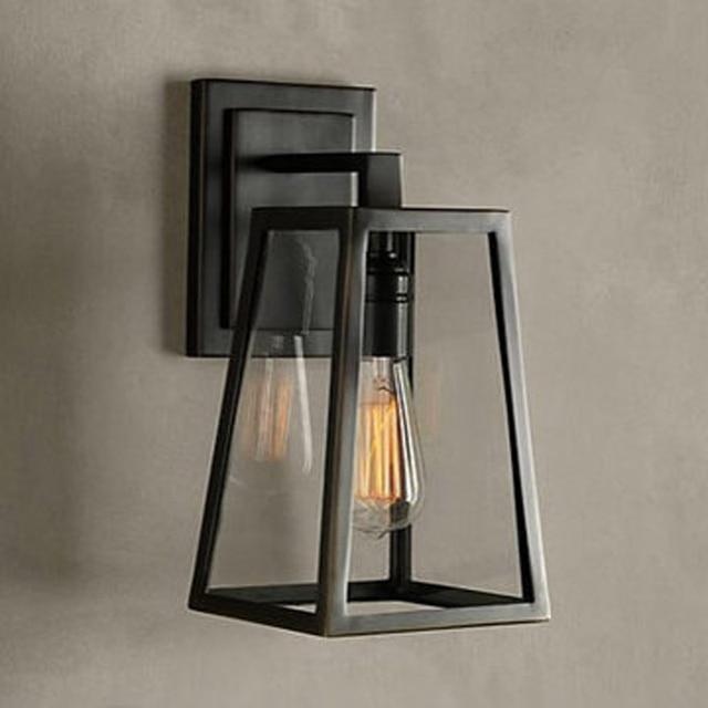 American Vintage Iron wall Lamp Loft Outdoor/Indoor Wall Lights ...